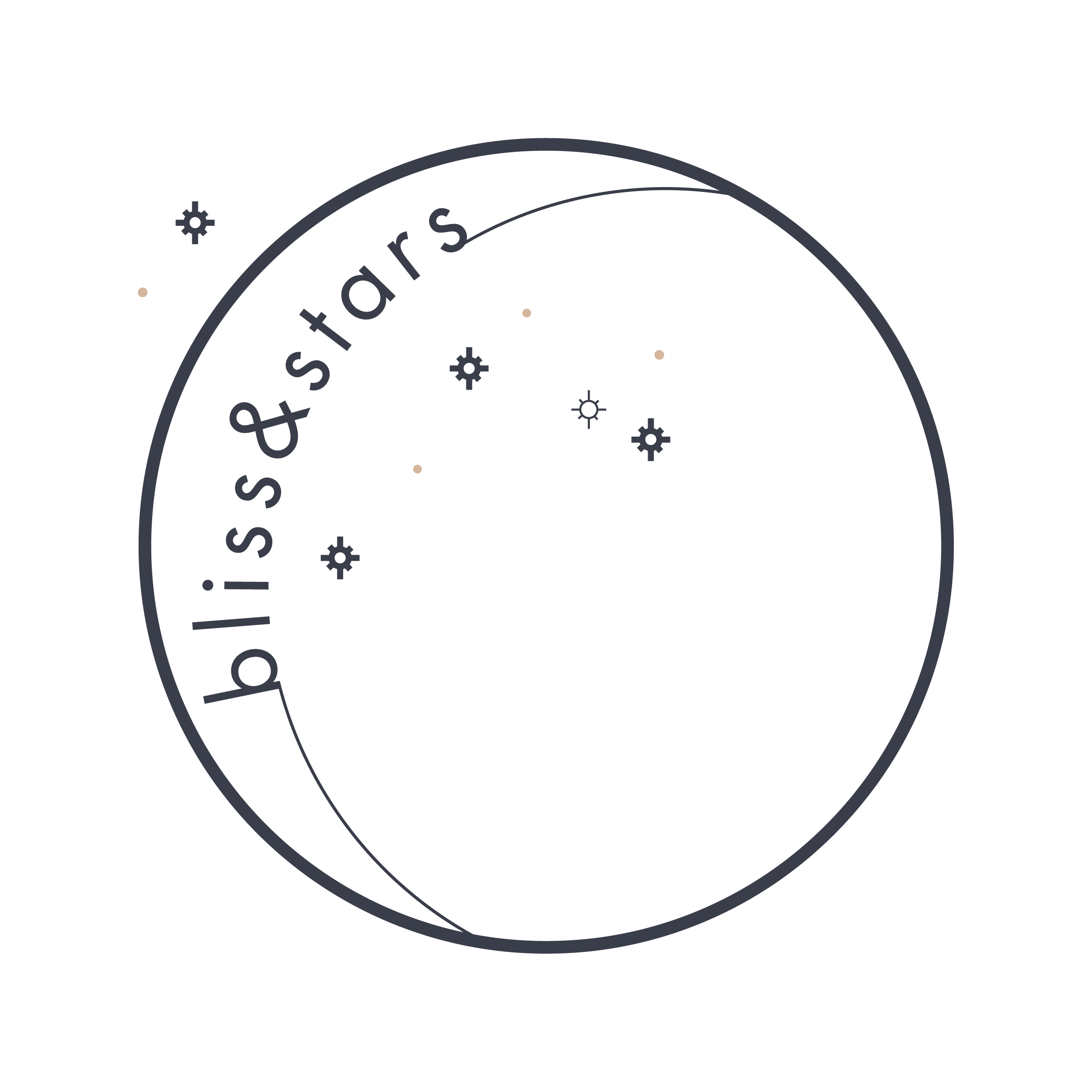 Bliss and Stars Logo Midnight